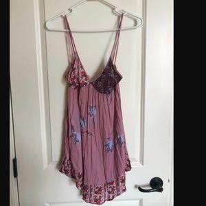free people pink slip dress